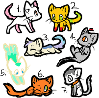 (old) 1 point cat adoptables by Pug--adopts