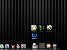 Glam v2skin for X Windows Dock by Ivanciu