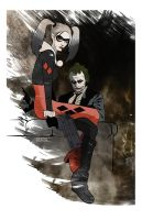 Joker and Harley by CartoonCaveman