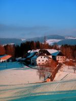 Village scenery in winter wonderland II by patrickjobst
