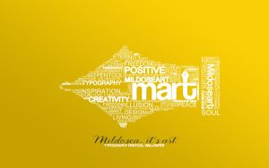 MART typography wallpaper by Ciillk