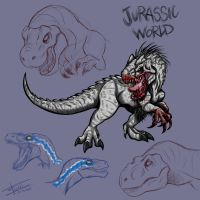 Jurassic World sketches by Mimy92Sonadow