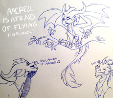 Aacrell is afraid of flying by aacrell