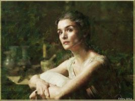 Rachel Weisz as Hypatia in Agora -Digital Painting by paulnery