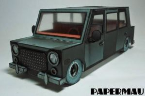 The Black Limo Paper Model by mauther