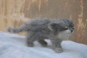 needle felted wild cat by vriad-lee