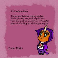 Ripto Comeback Card by CrystalNIX