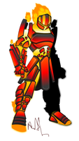 Magma Knight by Pearl-Shadow