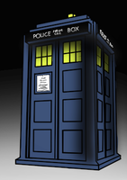 Attempting to draw a TARDIS by MarcoMetalWolf
