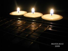 guitar and candles by musta-kuu