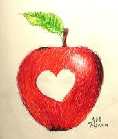 The heart in the apple (22) by Hedwigs-art