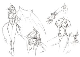 One-Winged Succubus - Sketch by 043152F