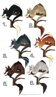 New Species Adopts by DancingfoxesLF