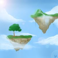 Floating Islands by xBlackFeather
