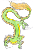 Eastern Dragon 2-Colored by RubyGirl14