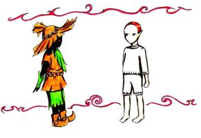 Skull Kid and Majora by Viveeh
