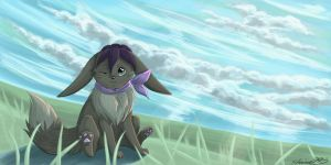Eevee Redraw Flower by shaina773