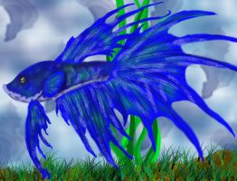 Colored Happy Betta by Ravwrin-NataEl