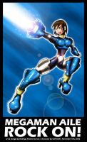 Megaman Aile ROCK ON by darkknightstrikes