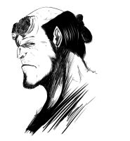Sketch - Hellboy by WizzardFye