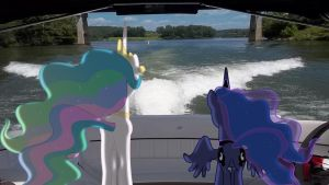 Request: Celestia And Luna Enjoying The View by Macgrubor