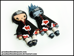 Itachi and Kisame by GrandmaThunderpants