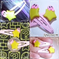 Little kirby Hair Clips by Spaztazm by spaztazm