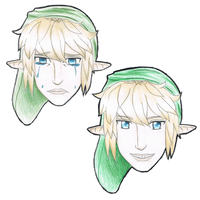 Link Comedy and Tragedy by xxEvangeline