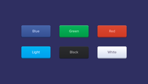 Rounded Buttons by freebiespsd