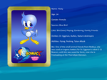 Sonic X: FIU eye-catch card: Flicky by bvge