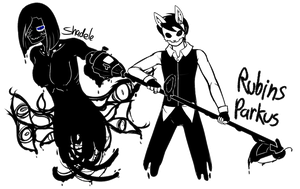 -Sanctum OCT- Character Merge: Rubins and Shadele by sarahthecat