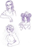 Free bust sketchs -part 1 by NeMi09