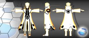 naruto kyuubi form (textured) by Show940