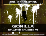 Gorilla Splatter Brushes v1 by joezerosum