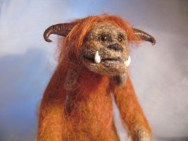 Ludo needle felted art doll 2 by fairyspit-dolls