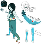 Steven Universe OC- Spinel Ref by bunnybun-chan