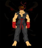 Dark Ryu by RoyalJester