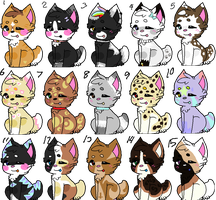 Puppy Adoptables! (only 10 points each!) by kittyriffic