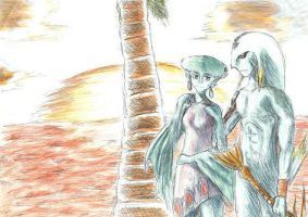 Lulu and Mikau by the Sunset by TimelessGarden