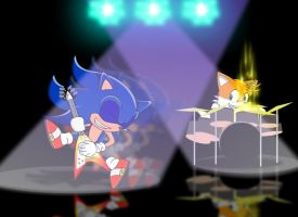 Sonic Wants To Rock by GoneIn10Seconds