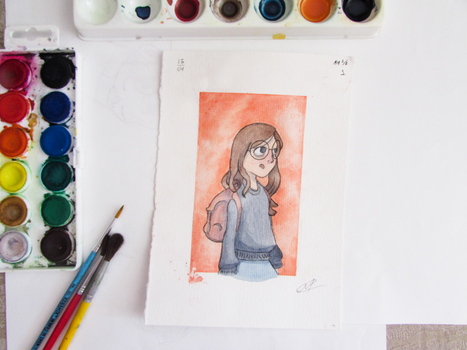 Character Watercolor Ilustration by MarcoAntonioMoreira