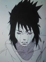 Sasuke-Crying by VolinschiMihnea