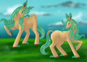 PokePony: Leafeon by kristhasirah