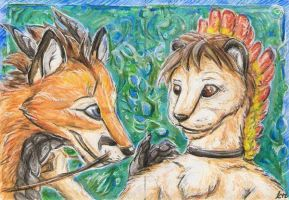 aceo Suane and KaceyFox by Kirsch-vanderWit