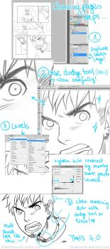Sketch to Inks Tutorial (Photoshop) by Zombiesmile