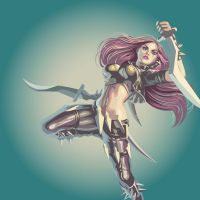 Katarina - The sinister blade. by Nash-Artz
