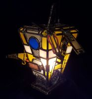 Mini Stained Glass Claptrap Night Light - Front by DarkeVitrum