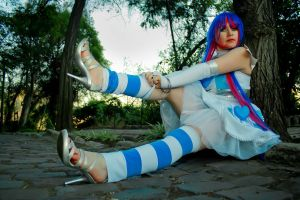 Anarchy Stocking Fallen angel by cloeth