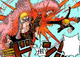 Sanji vs Do Flamingo Coloring by M by MarioTheArtistM