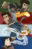 Korra: The Four Elements by sheenaduquette